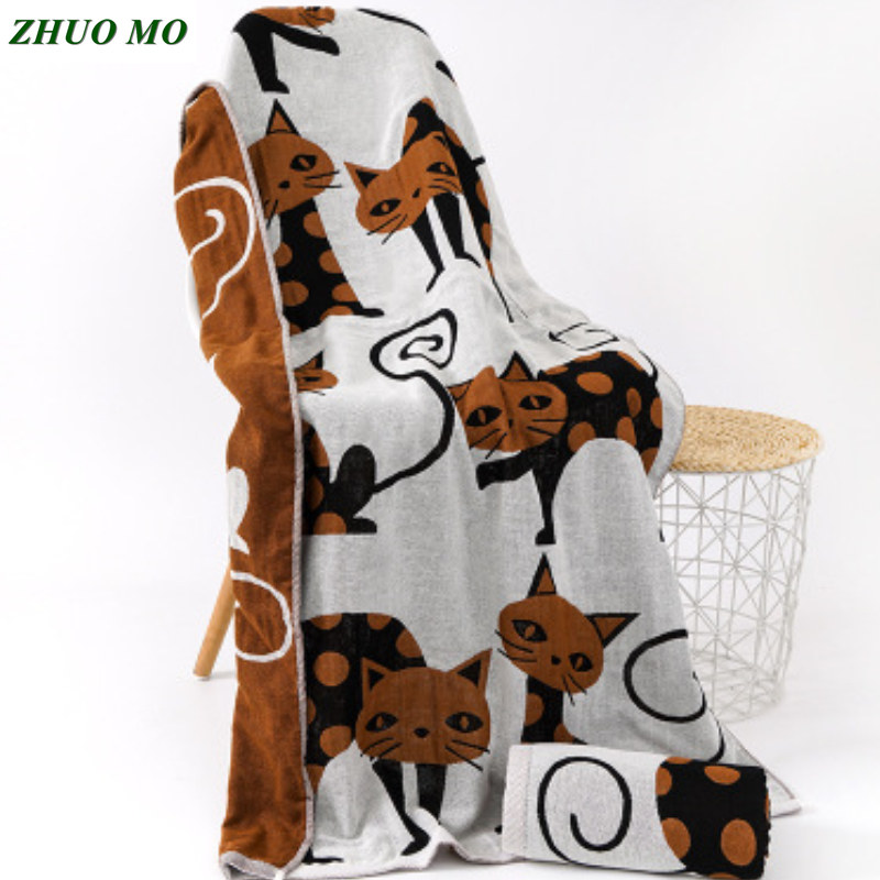 Cotton Gauze Beach towel bathroom Sheets Adult Cartoon Baby shower Large Blanket travel Hotel Bathrobe Shawl Children Bath Towel