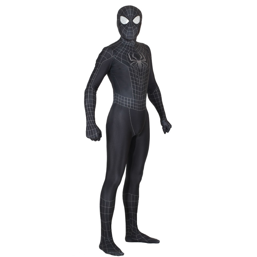 Spiderman 3 Black Symbiote 3D Cosplay Costumes Zentai Suit Spider Man Superhero Bodysuit Event Jumpsuits
