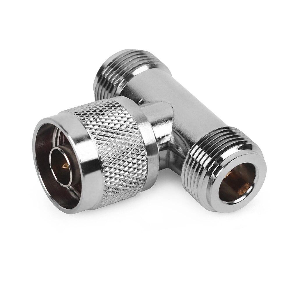 Connecteur 3 voies N Jack mâle à 2 N femelle Triple T dans adaptateur RF pour antenne extérieure/intérieure/répéteur de Signal N connecteur mâle
