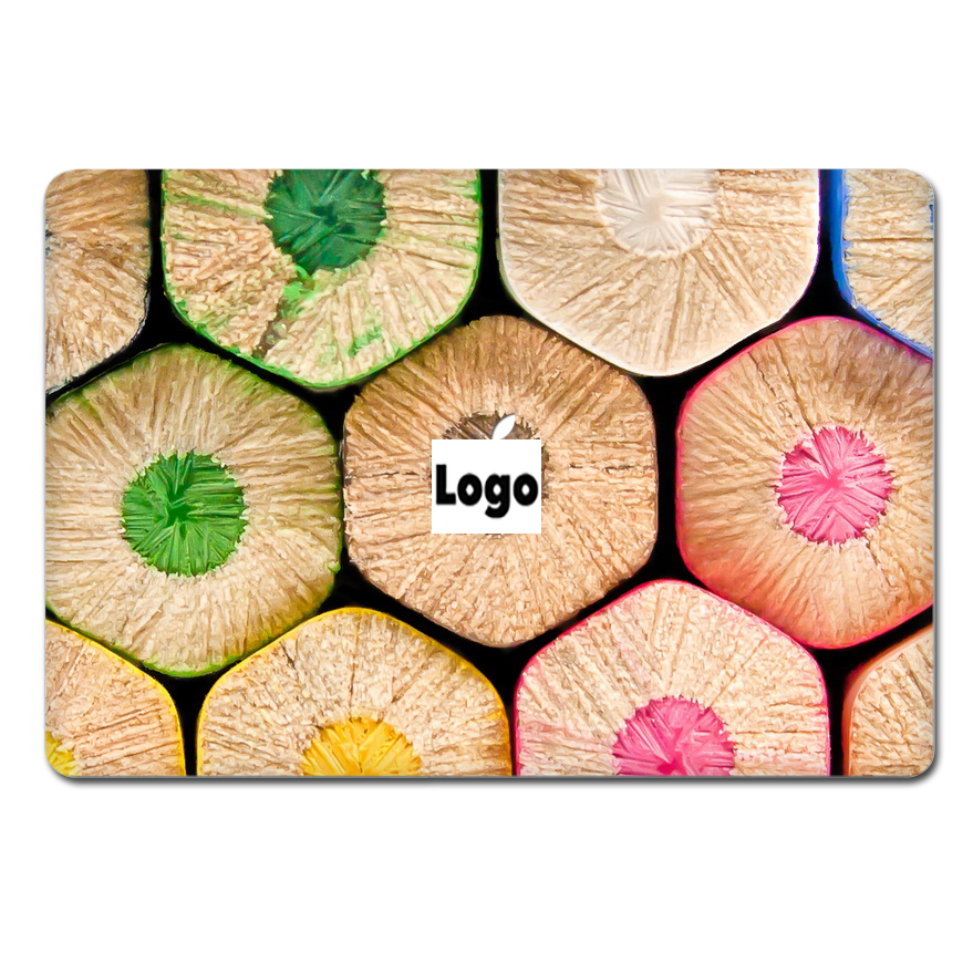 Hot Sale Laptop Sticker Top Vinyl Front Decal Colorful Oil Painting Skin For Macbook Air Pro Retina Notebook Computer Sticker