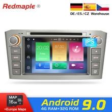 4G Оперативная память Android 9,0 автомобилей Радио gps Мультимедиа Стерео DVD проигрыватель для Toyota Avensis T25 2003-2008 Авто Аудио WI-FI видео навигации