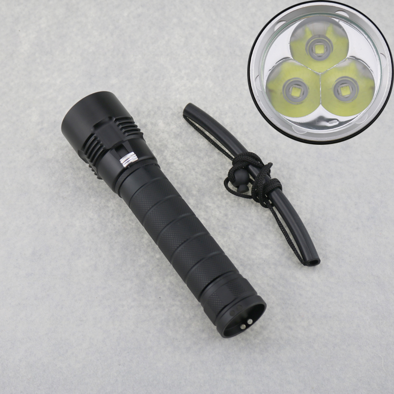4000 Lumen 30W 3X CREE XM-L2 (T6) LED Diving Flashlight Torch 100m Underwater Video 26650 battery Waterproof LED Lanterna Lamp фонарик epathchina 3 x 4000 30w cree xm l2 100 epa lef 089