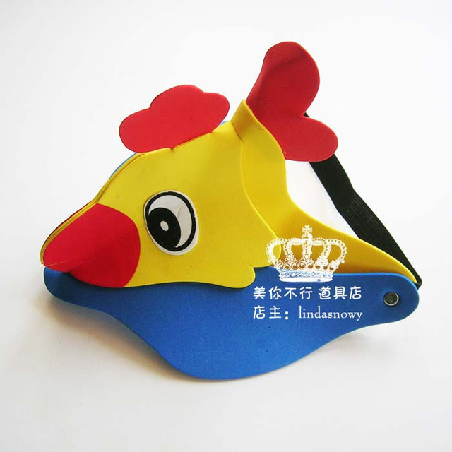 Kindergarten toy animal style hair accessory animal hat child chickens hat hair accessory