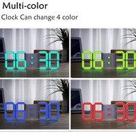 2017 New Version Multi Color Bell Large Modern Design Digital Led Wall Clock Big Creative Vintage