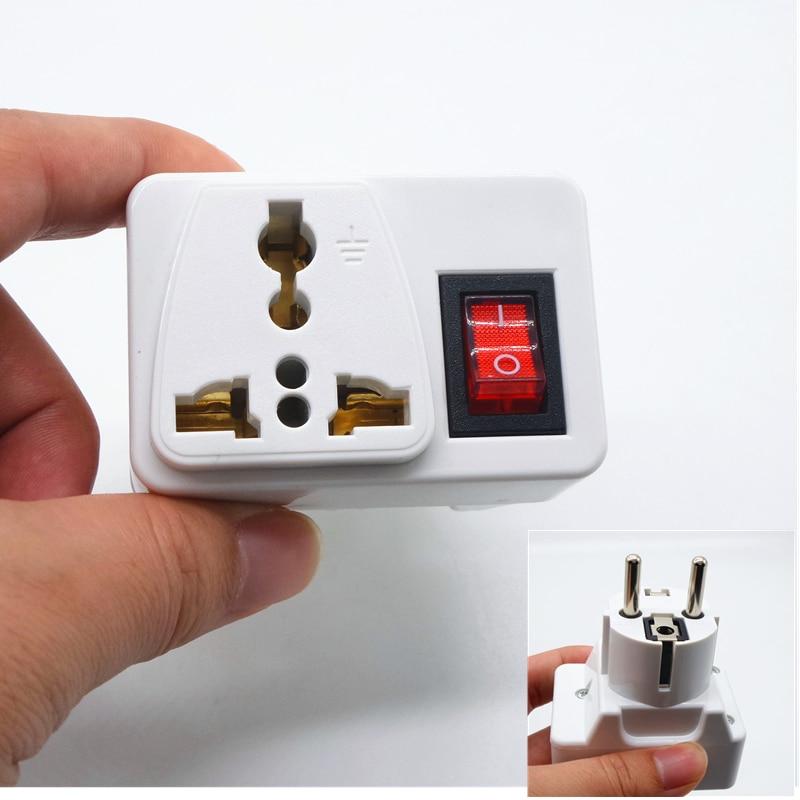European AC Electrical Plug Converter to AU US UK International Travel Universal Adapter AC Electrical Socket With safety switc