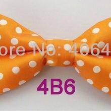 YIBEI Coachella Ties Orange With White Polka Dots Spots Butterfly  Adjustable Bow Tie c8e1dec8d7c4