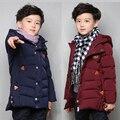 Зима Ветрозащитный Утолщаются Дети Верхняя Одежда Теплое Пальто для Детей Одежда Мальчики Куртки 5-16 Лет