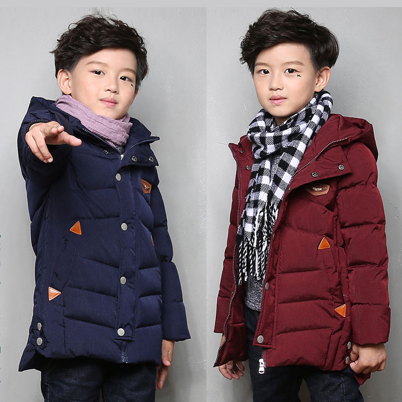 Winter Windproof Thicken Children Outerwear Warm Coat Kids Clothes Boys Jackets For 4-14 Years Old