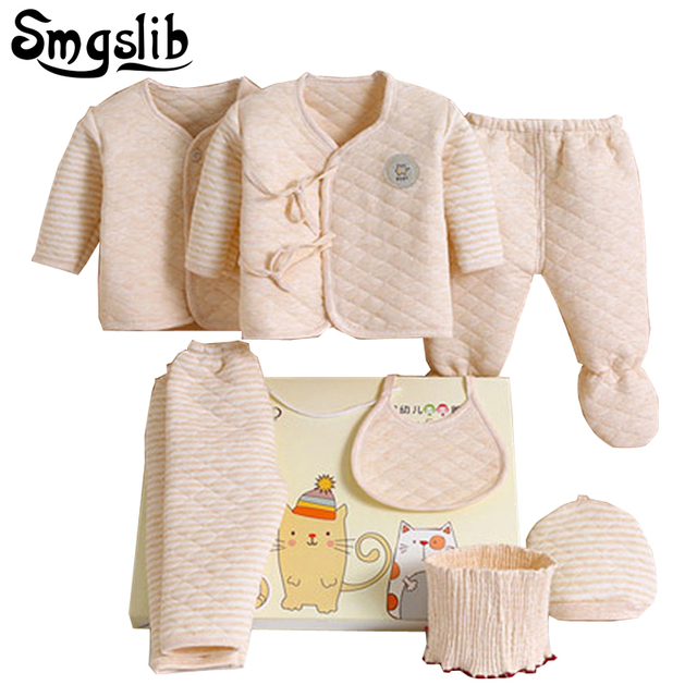 7pcs baby girl winter and fall clothes cotton infant underwear  Toddler girl tracksuits costume knitted baby clothes 0-3months