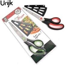 Urijk 1 Unid Pizza Tijeras Cuchillo Slicer Cortador de Pizza de Pizza Espátula de Acero Inoxidable Para Hornear Toolsl envío Accesorios de Cocina