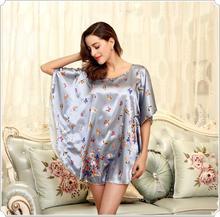 Sexy Silk Bath Robe Women Nightshirt Milk Silk Special Sleep Lounge Ladies Nightwear Plus Size Sleep Shirt For Sleep Top Pajamas