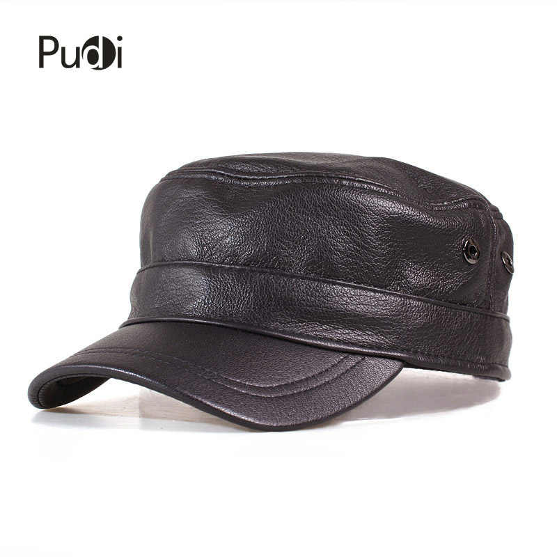 b949a599072 HL153-B genuine leather men baseball cap hat high quality men s real sheep  skin leather