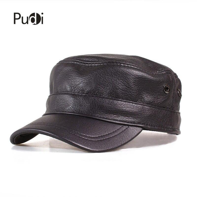 HL153 B cuero genuino hombres gorra de béisbol sombrero de los hombres de  alta calidad ovejas de cuero real sólido adulto sombreros en Gorras de  béisbol de ... eddb8052ed1