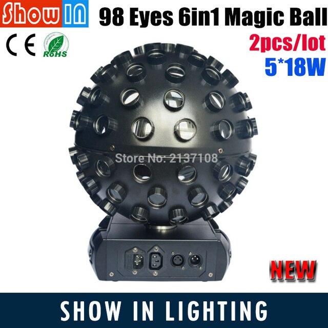 5*18W LED Magic Disco Lamo Ball Party Decoration Lights DMX Controller Iluminacao DJ Disco Nightclub Stage Lighting Equipment