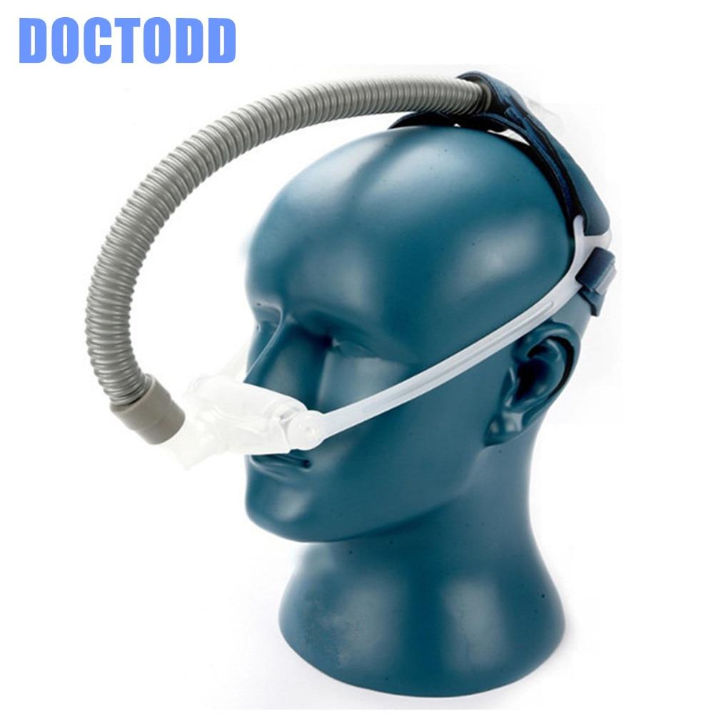 Masque pour oreillers nasaux DOCTODDD WNP pour toutes les marques CPAP Auto CPAP BPAP ventilateur sommeil 3 tailles coussin universel Anti ronflement