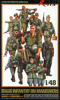 RealTS Tamiya 32530 1/48 WWII German Infantry On Manuevers Model Kit