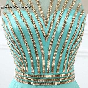 Image 4 - Длинное вечернее платье Aqua, Недорогое Платье длиной до пола из шифона с бусинами и вырезом лодочкой, LX411