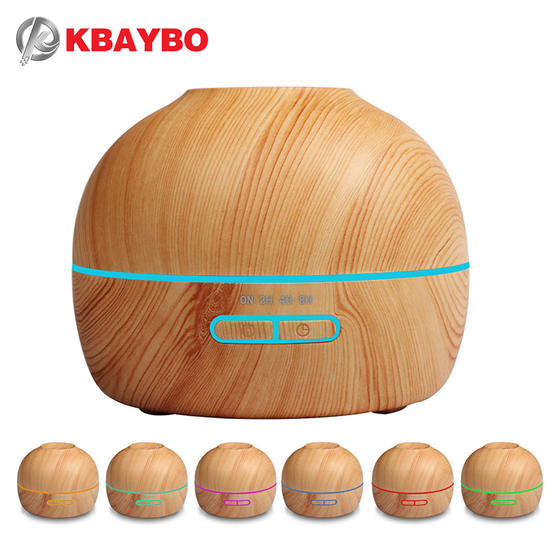 Aroma Essential Oil Diffuser Ultrasonic Cool Mist Humidifier Wood Grain With 7 Color LED Lights Aromatherapy Mist Maker for Home bm 03k 100 240v home ultrasonic essential oil aroma wood diffuser aromatherapy water humidifier mist maker 20 30ml h