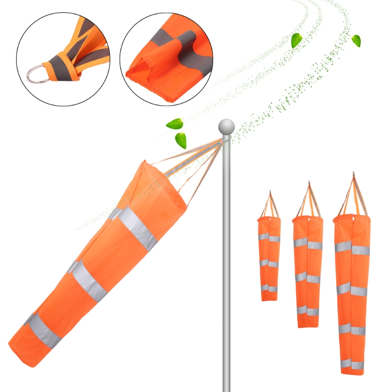 80/100/150CM Aviation Reflective Belt Windsock Outdoor Rip-stop Wind Sock Bag