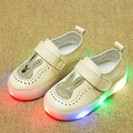 Summer Sequined rabbits Baby Girls Breathable Cut-outs Casual Shoes Children's Lovely Lighted sandals Solid Kids' LED Flats