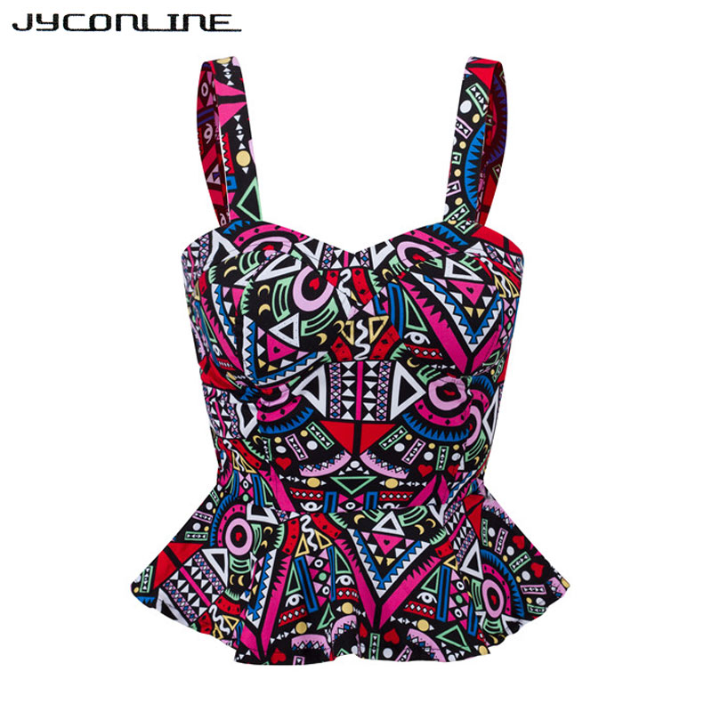 Jyconline Floral Bustier Crop Top Summer Women Tank Top Short Vest Sexy Camis Women Tops Cropped Feminino Ruffles Bralette Bra #6