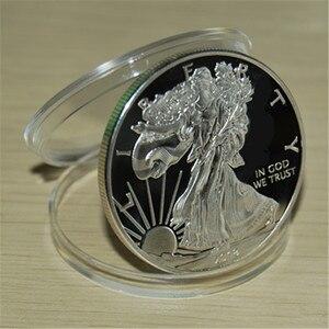 Образец! Новинка 2018, американская Серебряная монета «Орел» * 1 Трой унций. 999, серебряная круглая монета, бесплатная доставка, 1 шт./лот + америк...