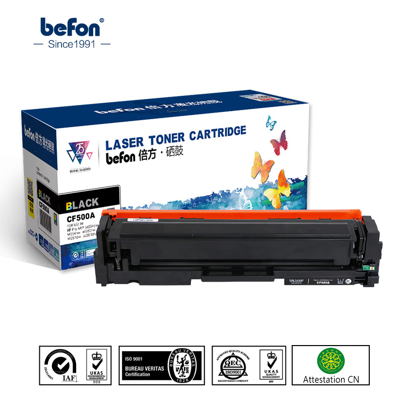 befon Color Toner Cartridge CF500A CF501A CF500 500a 500 CF501A Compatible for HP 202A for LaserJet M254DW 254 M281FDN M281 M280 use for hp 4730 toner cartridge toner cartridge for hp color laserjet 4730 printer use for hp toner q6460a q6461a q6462a q6463a