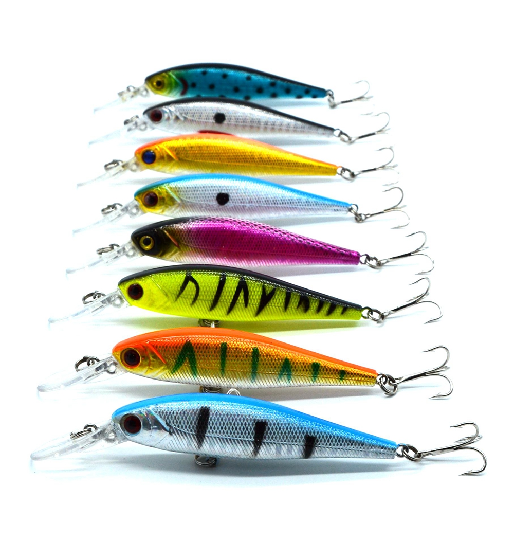 8 color 10cm /9.4g Isca Artificial Pesca Fishing Lure Minnow Hard Bait with 2 Fishing Hooks crankbait Fishing Tackle Lure 3D Eye amlucas minnow fishing lure 110mm 9 5g crankbait wobblers artificial hard baits pesca carp fishing tackle peche we266