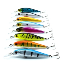 free shipping 8 colors 10 cm  9.4 g Fishing Lure Minnow Hard Bait with 2 Fishing Hooks Fishing Tackle Lure 3D Eyes
