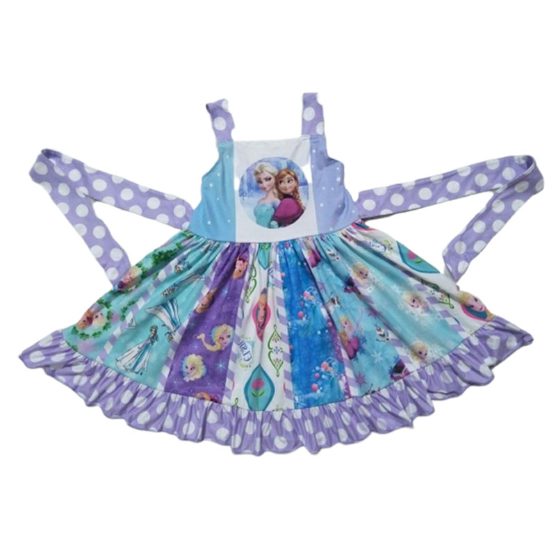Best selling Lovely Children's Party Dress Boutique children clothing Girls Twirl Dress image