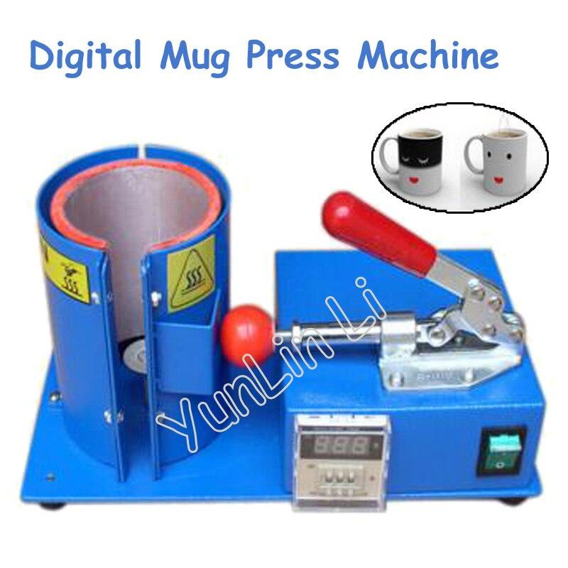 Цифровая машина для прессования кружек, термопереводная машина для выпечки, вертикальная индивидуальная машина для изготовления кружек