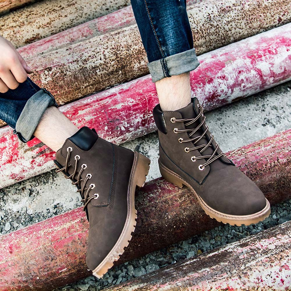 US $20.93 44% OFF|Brand Men's Boots Leather Winter Warm Shoes Motorcycle Mens Ankle Boot Doc Martins Autumn Men Oxfords Shoe Nov21 in Basic Boots from