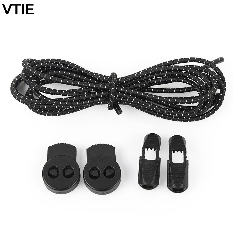 VTIE 2018 New Lazy Shoes Lace Running Sports Laces Elastic Shoelace Stretch Belt Round Buckle Shoe Laces Elastic Laces For Shoes