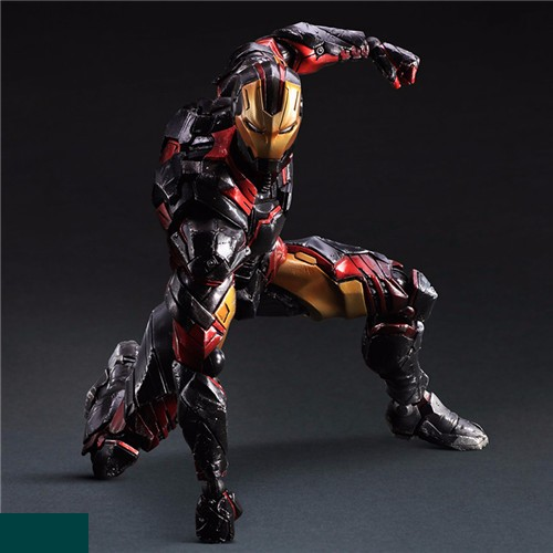 Super Hero Tony Stark Hulkbuster Play Arts Kai Iron Man Figure PA 27cm PVC Action Figure Doll Toys Kids Gift Brinquedos 2017 new avengers super hero iron man hulk toys with led light pvc action figure model toys kids halloween gift