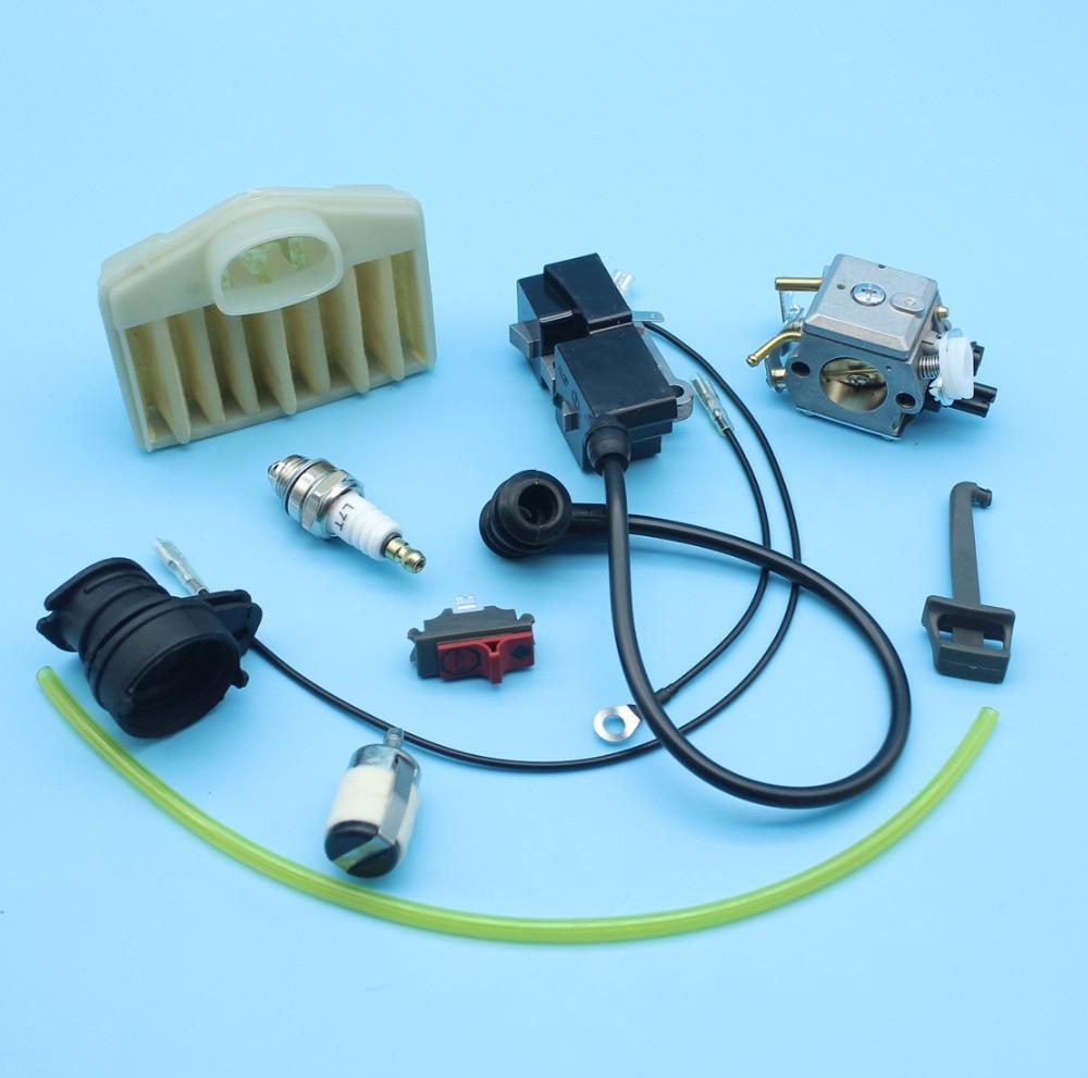 Carburetor Parts Ignition Coil Spark Plug Oil/&fuel Filter For Jonsered 2150 2152