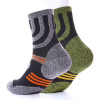 2 Pairs Lot Quality Professional Comfortable Elasticity Breathable Thick Trekking Riding Bicycle Men Brand Socks