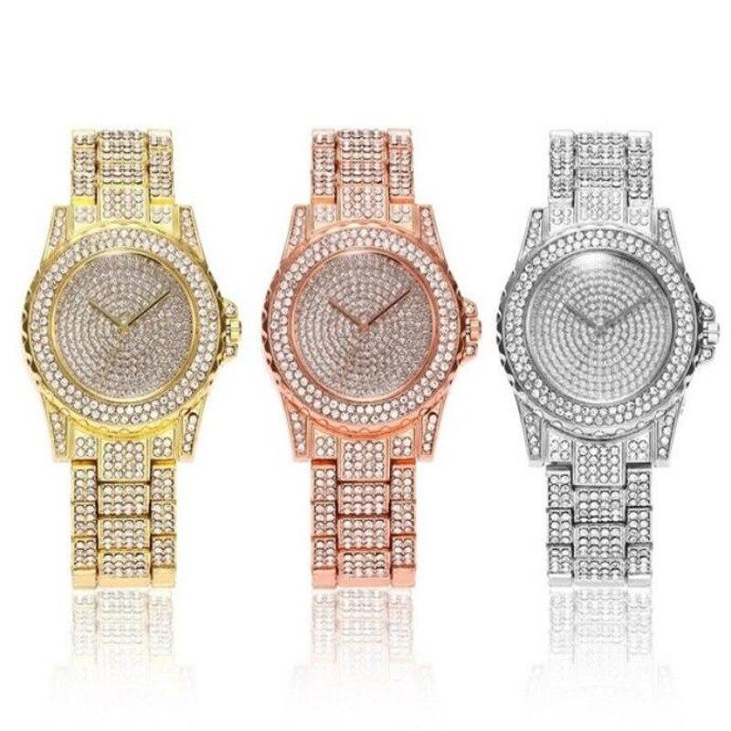 Relogio Feminino Crystal Women Watche Full Steel Ladies Wristwatch Women reloj hombre montre femme zegarek damski reloj de mujer