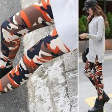 2017 Hot Women Leggings Camouflage Army Printed Stretch Pants Skinny Trousers