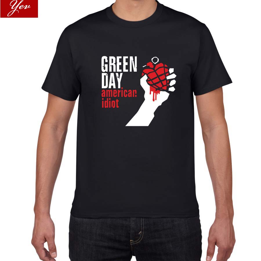 2019 new summer Famous band Green Day   t     shirt   men 100% cotton loose Tops&Tees men Rock Hip Hop street wear men clothes pok