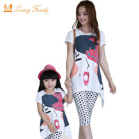 Family Matching Outfits 2019 Summer family clothing sets girl clothing kids clothes for mother and daughter Leisure set clothes