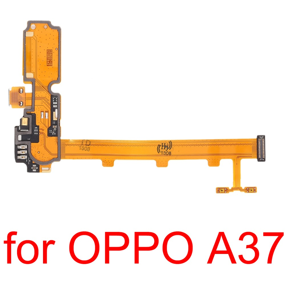 H   New For OPPO A37 Charging Port & Volume Button Flex Cable  Repair Parts