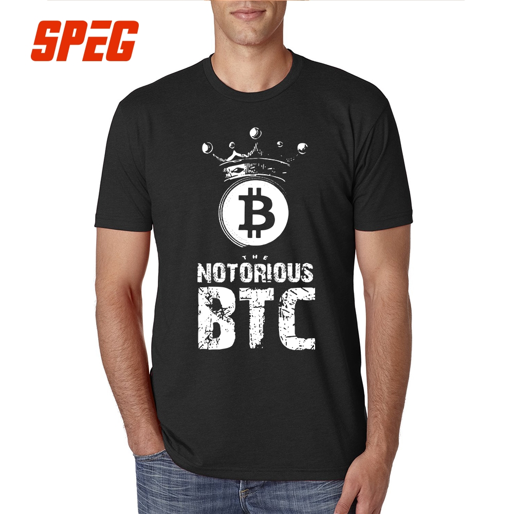 5XL T Shirts The Notorioe Shirus Bitcoin BTC Funny Tees Teenage 100% Cotton Short Sleeved Great Adult T-Shirt Design Plus Size