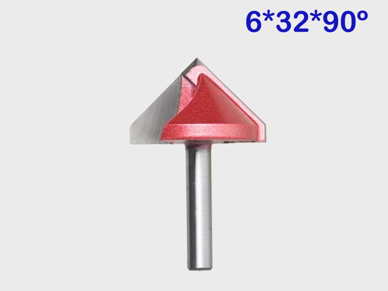 1pc Free shipping 90 Degree 6*32mm 3D V-Type Cutter 3D V Bits Engraving Tools For Engraving Machine 2 flutes 3D V-Type Cutter free shipping hand mini engraving tools for metals