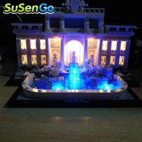 LED Light Kit For Trevi Fountain Compatible With Lego Building Blocks Toys Light Accessories Set