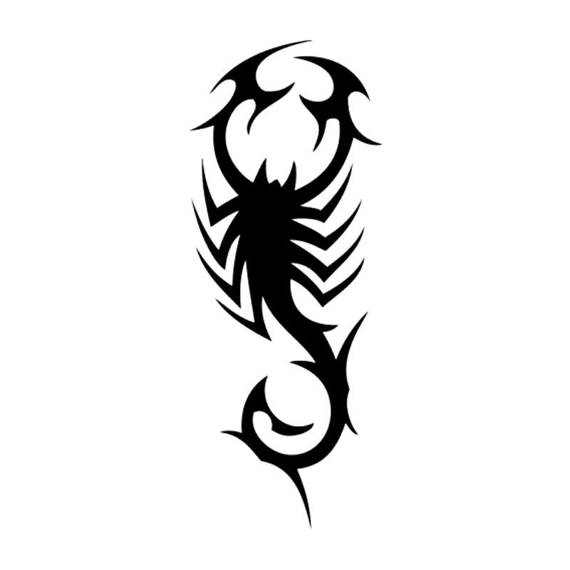 вариант картинки черно белые тату скорпиона можно