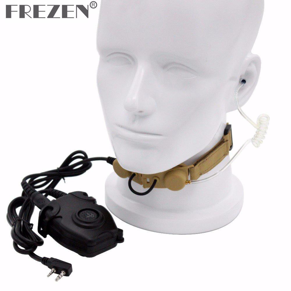 Z Тактический горловой микрофон Z003 гарнитура с Peltor PTT для Kenwood двухстороннее радио BaoFeng UV-5R GT-3 UV-5X BF-F8 BF-888S Retevis H777