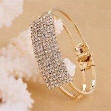 Jewelry 2017 Luxury Design Women Lady Elegant Bangle Wristband Bracelets Crystal Cuff Bling High Quality Bracelet