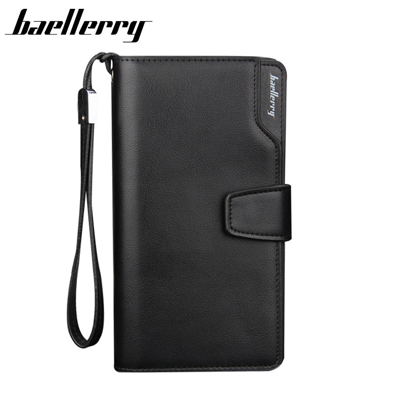 BAELLERRY Men Wallets Men Purse Clutch Bag PU Leather Wallet Long Design Card Holders Carteira Masculina Best Gift HQB1800 2017 luxury brand men genuine leather wallet top leather men wallets clutch plaid leather purse carteira masculina phone bag