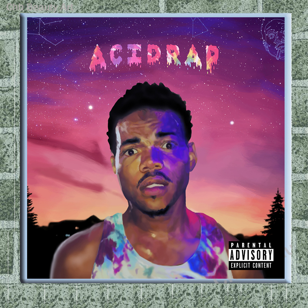 Unframed HD Print On Canvas Chance The Rapper Acid Rap Wall Pictures Art Painting Three Size 40cmx40cm