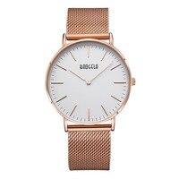 Baogela Lovers watch stainless steel net belt quartz watch simple fashion watch Male style Women's style Classic Wrist watch